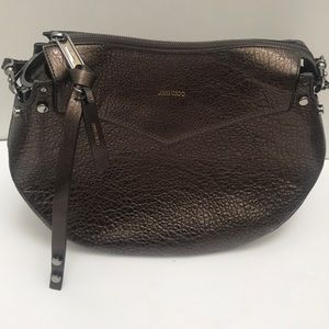 Jimmy Choo Artie Leather Metallic Hobo